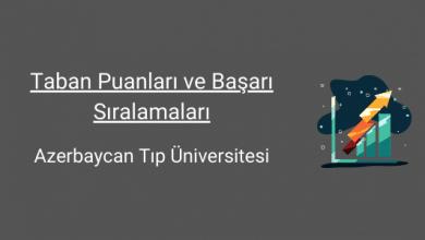 azerbaycan tıp üniversitesi taban puanları