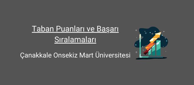 çanakkale 18 mart üniversitesi taban puanları