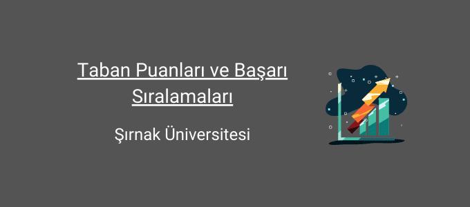 şırnak üniversitesi taban puanları
