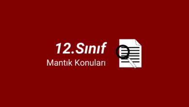 12.sınıf mantık konuları
