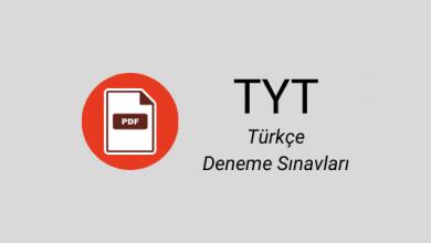 TYT Türkçe deneme pdf