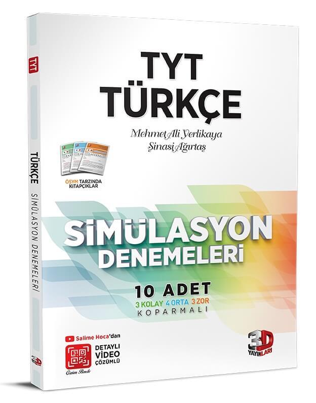 3d yayınları TYT Türkçe 10'lu simülasyon denemeleri