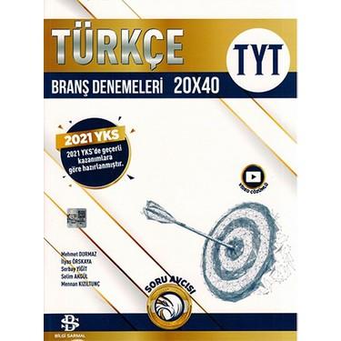 bilgi sarmal yayınları TYT Türkçe branş denemeleri 20x40