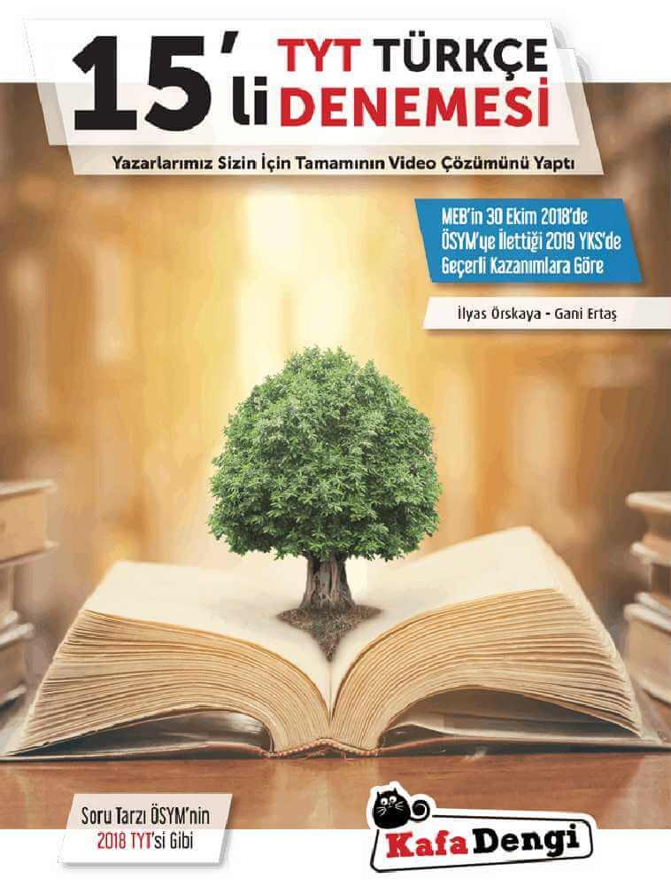 kafadengi yayınları 15li TYT Türkçe denemesi