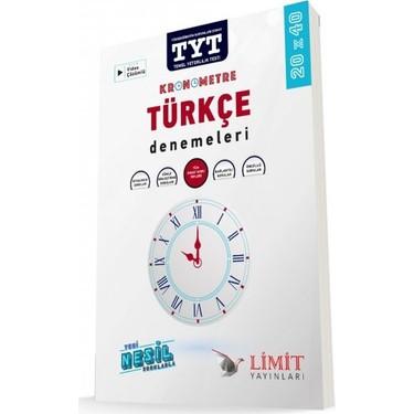 limit yayınları TYT kronometre Türkçe denemeleri 20x40