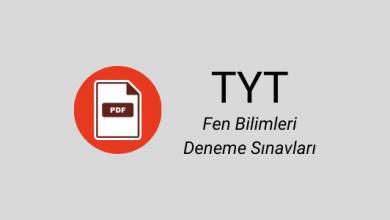 TYT fen bilimleri denemeleri PDF