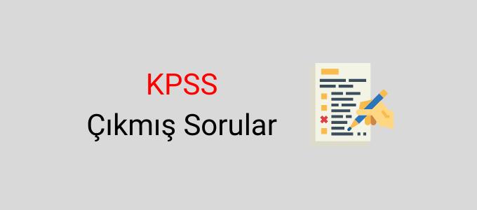 KPSS çıkmış sorular