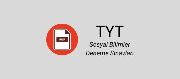 TYT sosyal bilimler deneme pdf